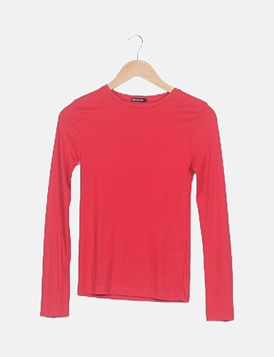 Camiseta canalé roja