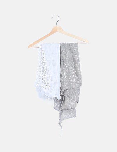 Set 2 foulard multicolor