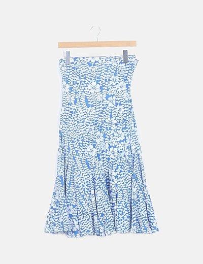 Vestido mini azul floral
