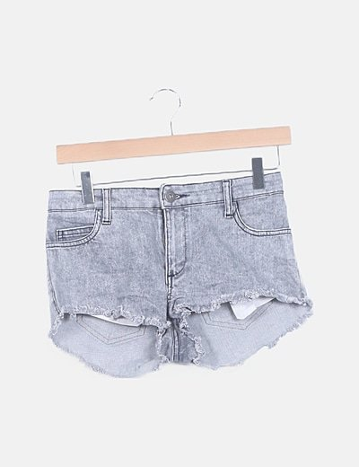 Short denim gris jaspeado