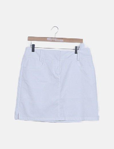 Falda básica blanca