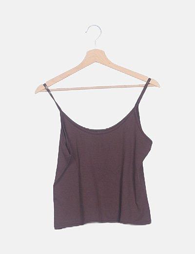 Camiseta marrón de licra