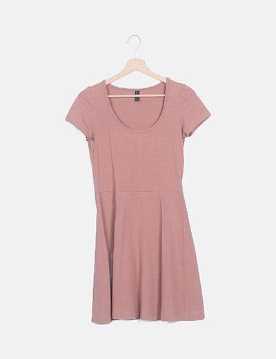 Vestido básico rosa