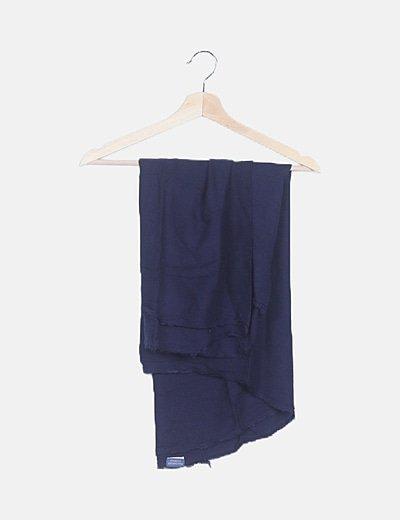 Pañuelo azul marino desflecado
