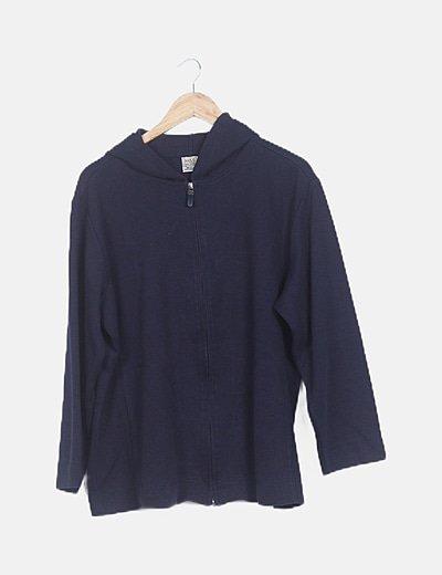Chaqueta tricot azul marino de rayas