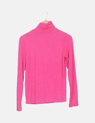 Suéter rosa manga larga