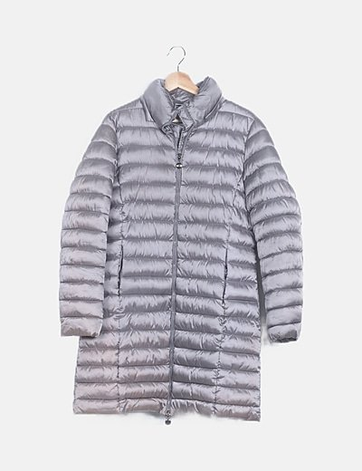 Anorak largo acolchado gris