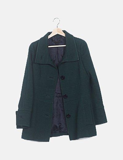Abrigo largo texturizado verde
