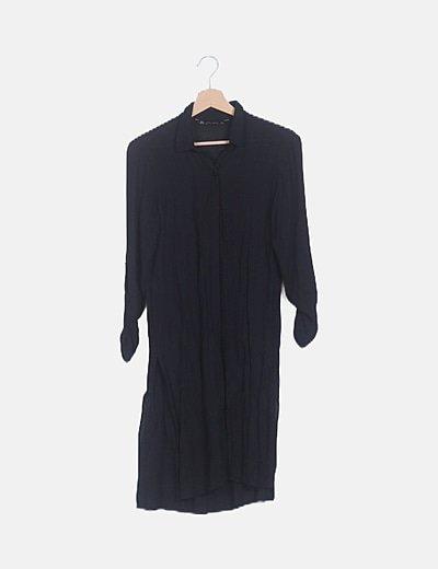 Camisa maxi negra