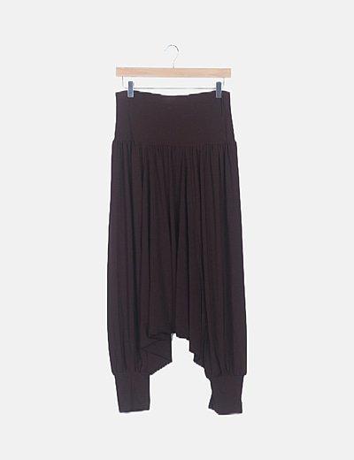 Pantalón bombacho marrón