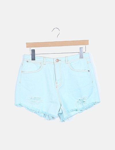 Shorts denim turquesa
