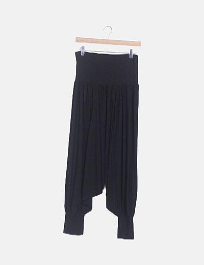 Pantalón bombacho negro