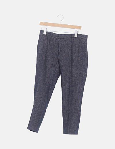 Pantalón texturizado irisado