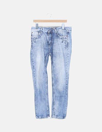 Jeans mom fit denim