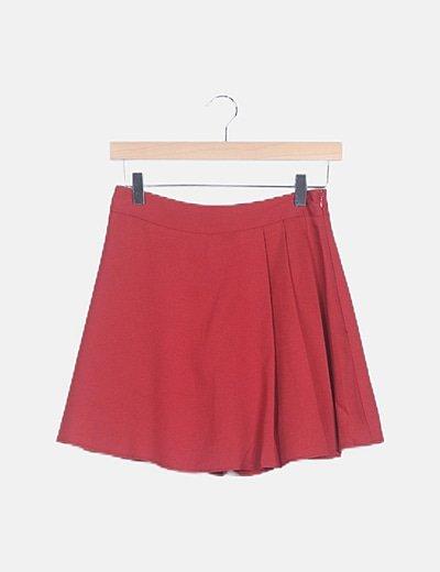 Mini falda tablas roja