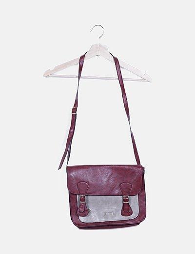 Bolso satchel bicolor