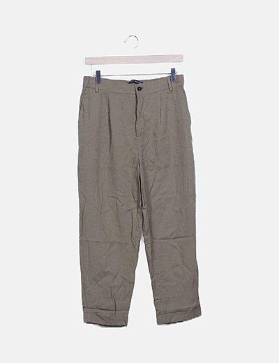 Pantalón baggy fluida verde khaki