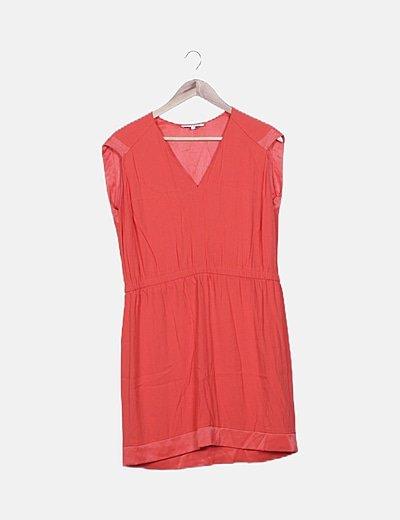 Vestido fluido rojo básico