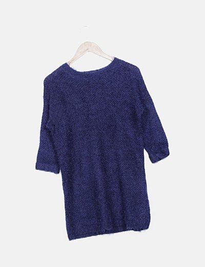 Jersey pelo azul marino