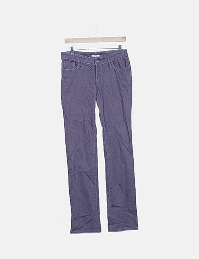 Jeans taupé detalles bordados