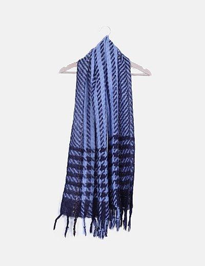 Bufanda azul combinada