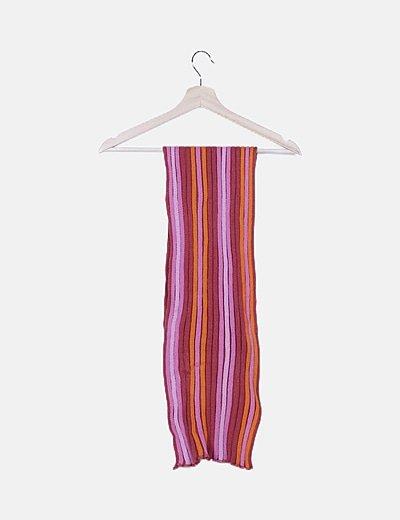 Bufanda punto rayas tricolor