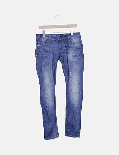 Pantalón denim skinny ripped