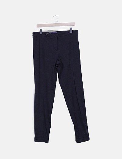Pantalón negro de pinzas