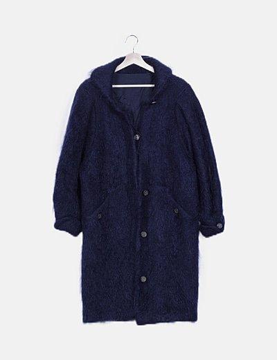 Abrigo azul pelo
