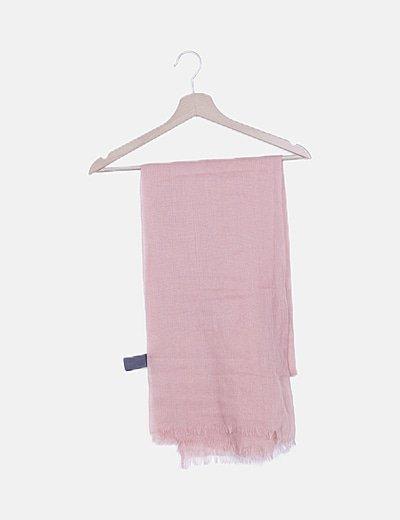 Pañuelo rosa desflecado