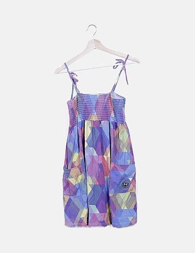 Vestido fluido multicolor