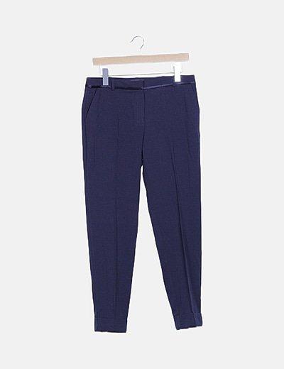Pantalón pinzas azul marino