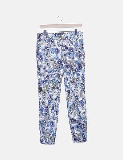 Pantalón multicolor floral