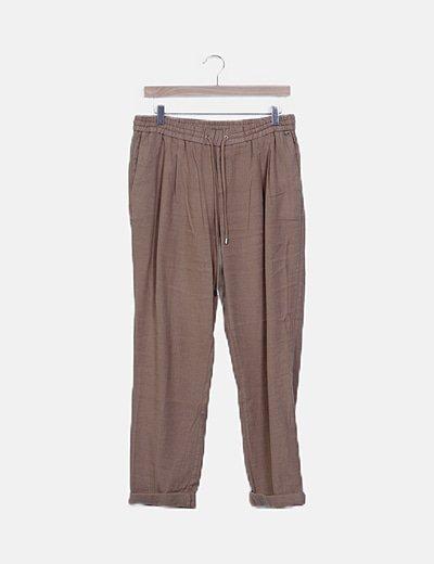 Pantalón baggy beige