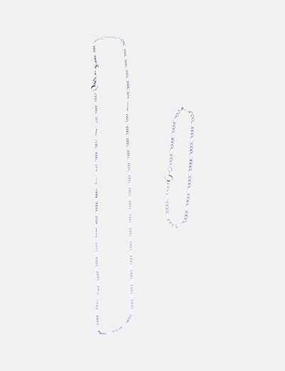 Conjunto cadena y pulsera plata