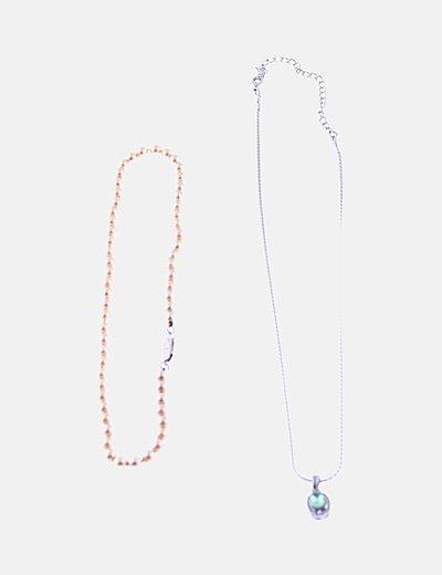 Pack colgantes perlas y strass