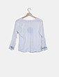 Blusa fluida blanca con bordado Chic Soul