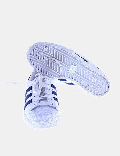 Padre Atticus ven  Adidas Deportivas adidas Superstar rayas terciopelo azul (descuento 50 %) -  Micolet