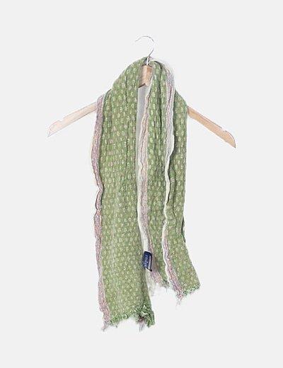 Bufanda verde estampada