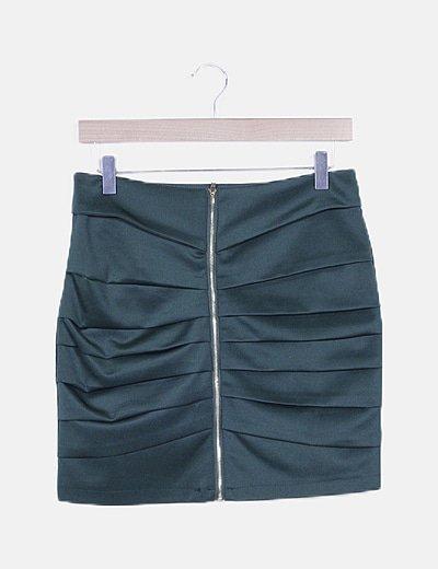 Mini falda verde plisada
