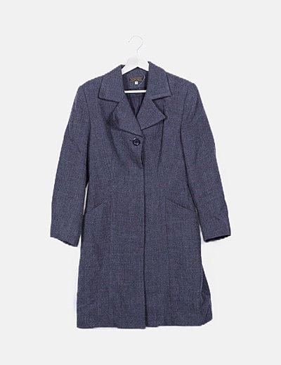Abrigo gris con bolsillos