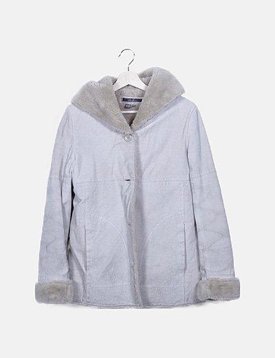 Abrigo gris doble faz
