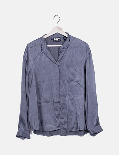 Camisa gris seda