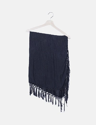 Foulard negro flecos