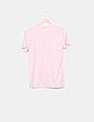 Camiseta rosa letras rojas Zaful
