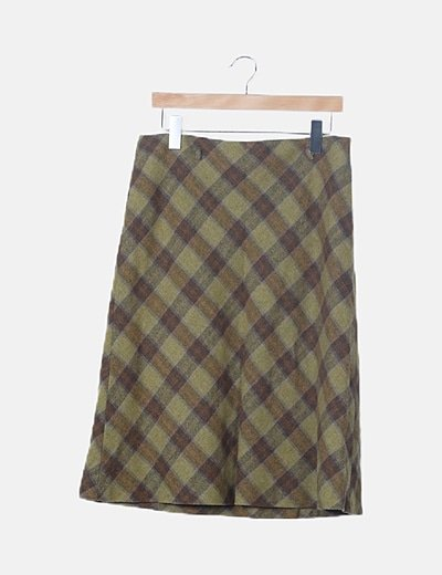 Falda verde de cuadros