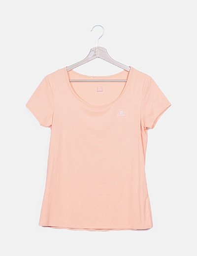 Camiseta básica naranja fluor