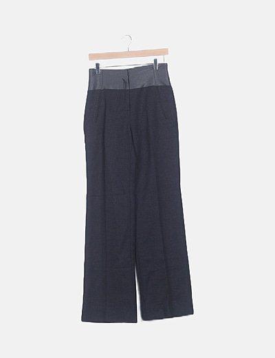 Pantalón tiro alto gris
