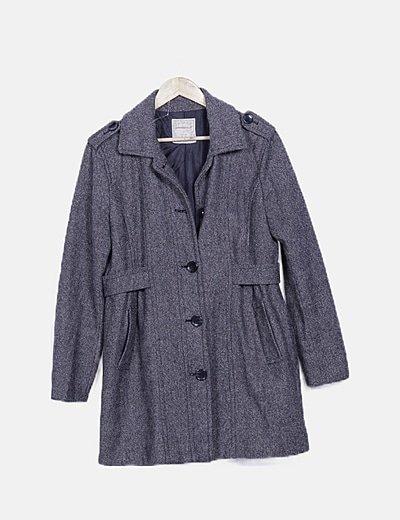 Abrigo bicolor glitter