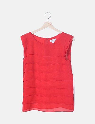 Blusa volantes roja
